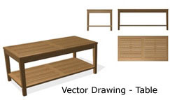 Vector Drawing-Table