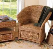 water hyacinth chair and side table