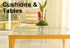 Cushions and Tables