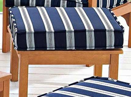 outdoor blue stripe cushions